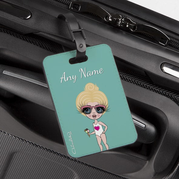 ClaireaBella Girls Turquoise Luggage Tag - Image 1