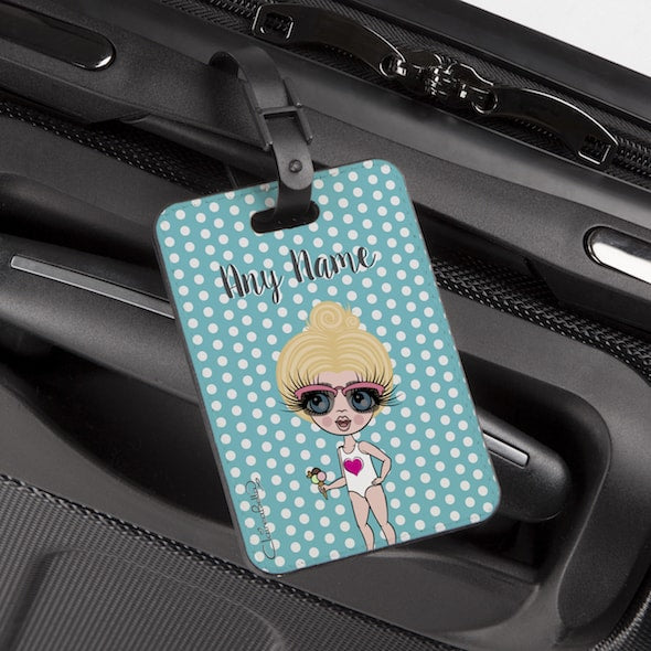 ClaireaBella Girls Polka Dot Luggage Tag - Image 1