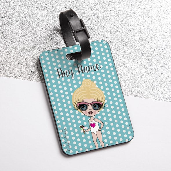 ClaireaBella Girls Polka Dot Luggage Tag - Image 2