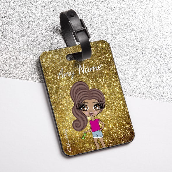 ClaireaBella Girls Glitter Effect Luggage Tag - Image 2