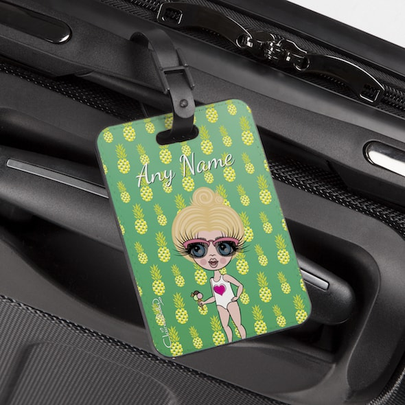 ClaireaBella Girls Pineapple Print Luggage Tag - Image 1