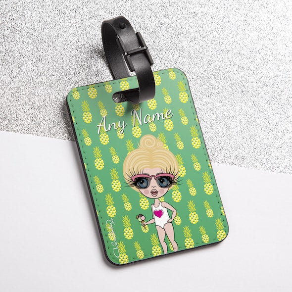 ClaireaBella Girls Pineapple Print Luggage Tag - Image 2