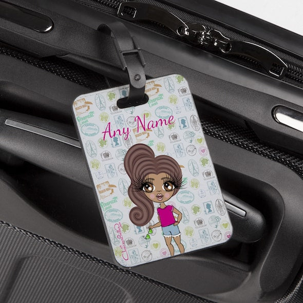ClaireaBella Girls Travel Stamp Luggage Tag - Image 1