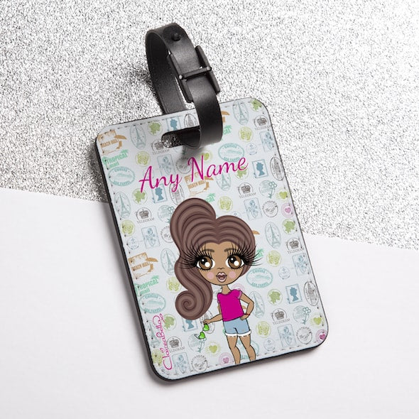 ClaireaBella Girls Travel Stamp Luggage Tag - Image 2