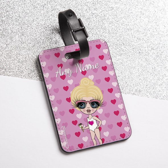 ClaireaBella Girls Hearts Luggage Tag - Image 2