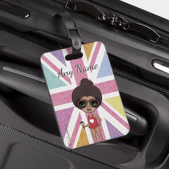 ClaireaBella Girls Union Jack Luggage Tag - Image 1
