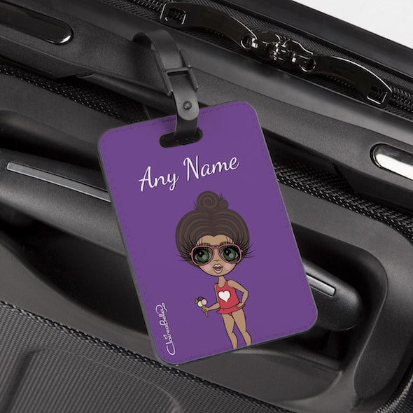 ClaireaBella Girls Purple Luggage Tag - Image 1