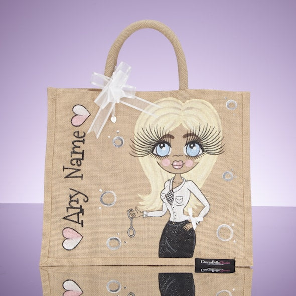 ClaireaBella Police Jute Bag - Large - Image 1