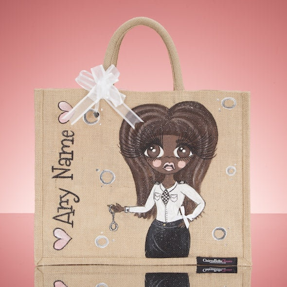 ClaireaBella Police Jute Bag - Large - Image 5