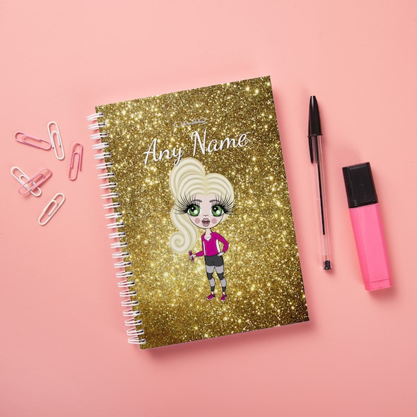 ClaireaBella Girls Hardback Notebook - Glitter Effect - Image 5