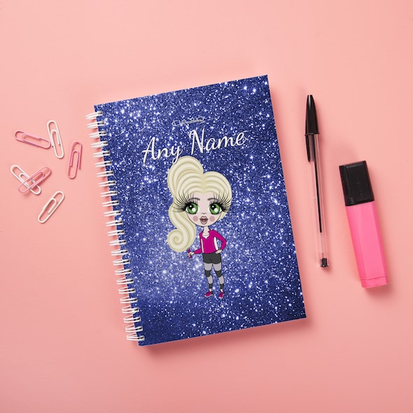 ClaireaBella Girls Hardback Notebook - Glitter Effect - Image 4