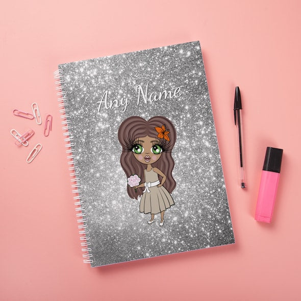 ClaireaBella Girls Hardback Notebook - Glitter Effect - Image 3