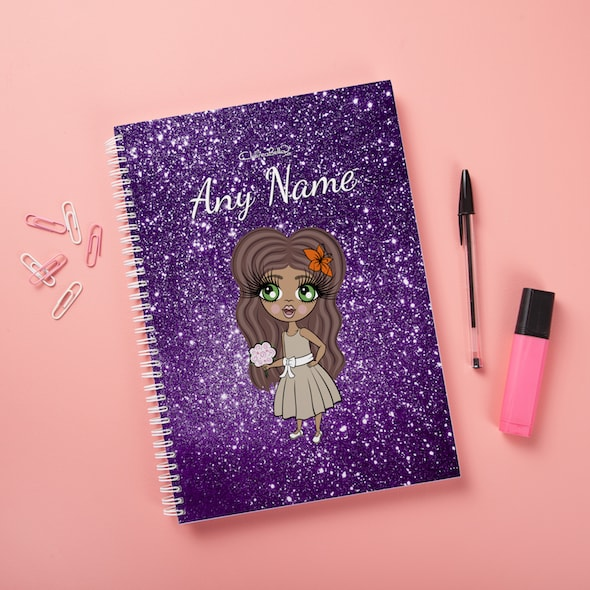 ClaireaBella Girls Hardback Notebook - Glitter Effect - Image 6
