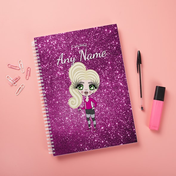 ClaireaBella Girls Hardback Notebook - Glitter Effect - Image 7