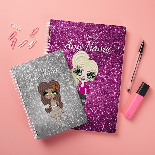 ClaireaBella Girls Hardback Notebook - Glitter Effect - Image 2