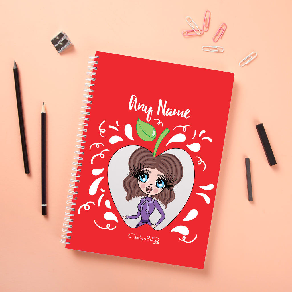 ClaireaBella Hardback Notebook - Teacher's Apple - Image 2