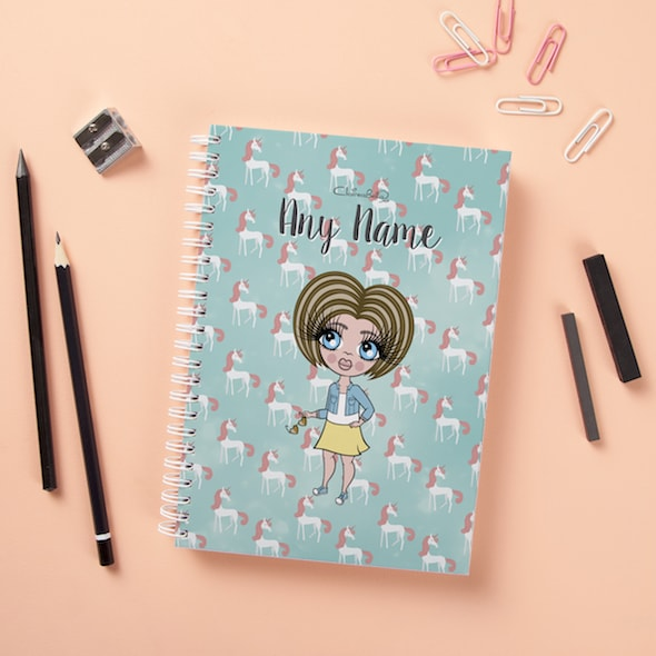 ClaireaBella Girls Hardback Notebook - Unicorn - Image 1