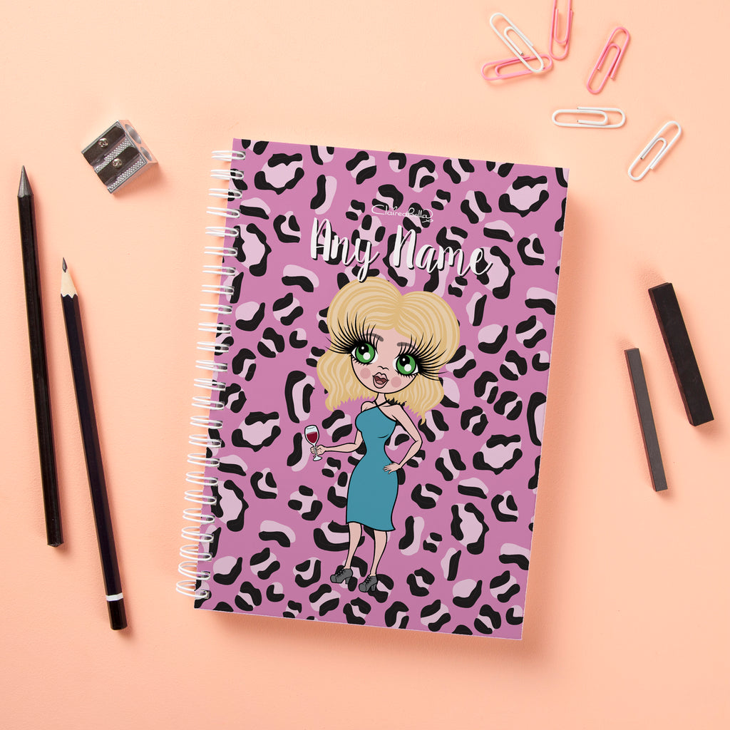 ClaireaBella Hardback Notebook - Lilac Leopard - Image 1