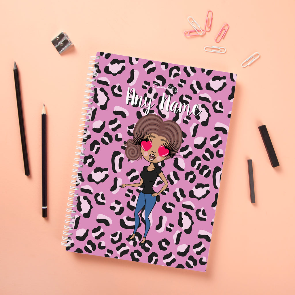 ClaireaBella Hardback Notebook - Lilac Leopard - Image 2