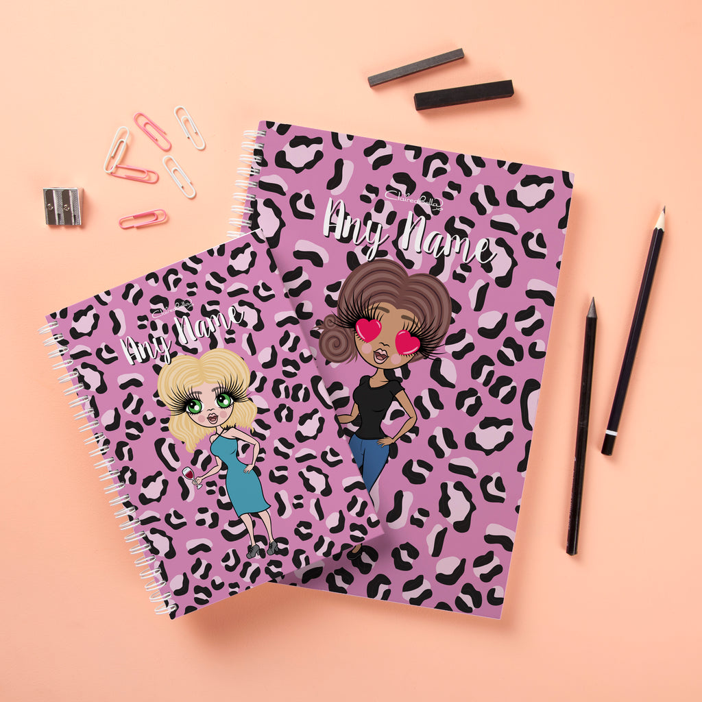 ClaireaBella Hardback Notebook - Lilac Leopard - Image 3