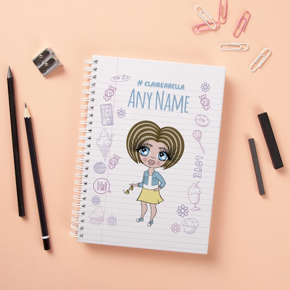 ClaireaBella Girls Hardback Notebook - Notebook Print - Image 1