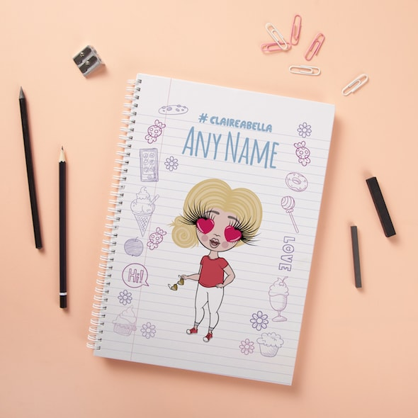 ClaireaBella Girls Hardback Notebook - Notebook Print - Image 2