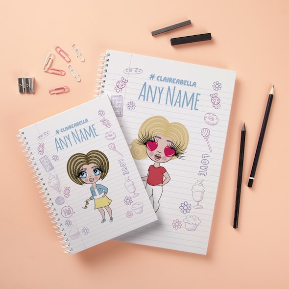 ClaireaBella Girls Hardback Notebook - Notebook Print - Image 3
