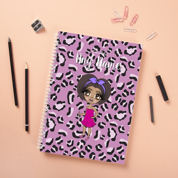 ClaireaBella Girls Hardback Notebook - Lilac Leopard - Image 3