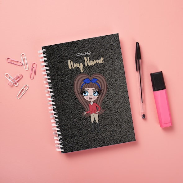 ClaireaBella Girls Hardback Notebook - Black Texture - Image 1