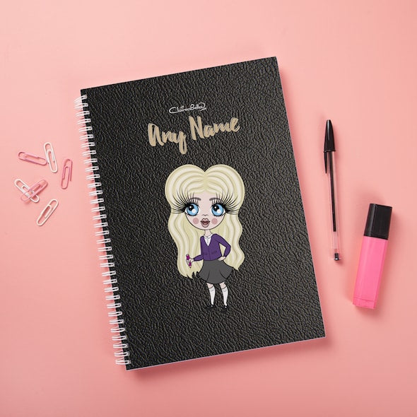 ClaireaBella Girls Hardback Notebook - Black Texture - Image 2