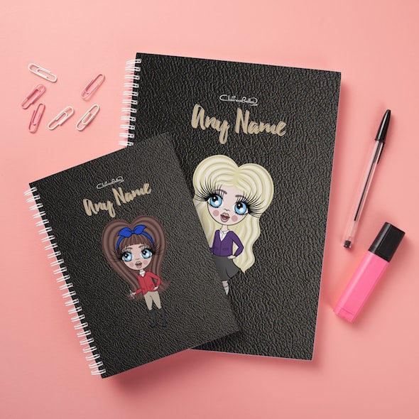 ClaireaBella Girls Hardback Notebook - Black Texture - Image 3