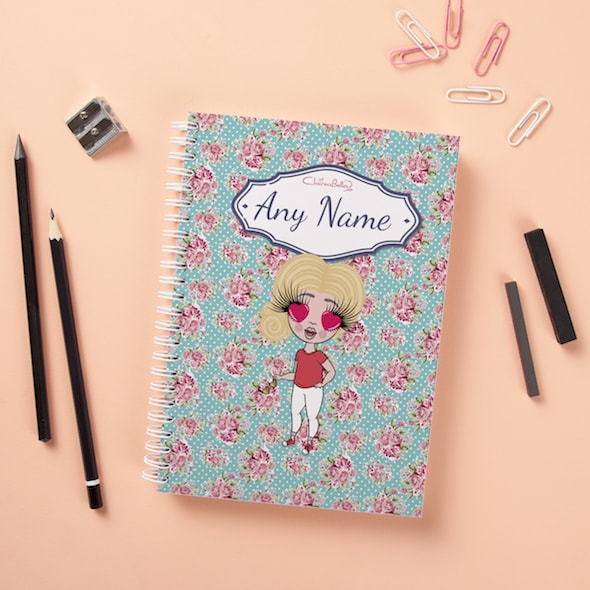 ClaireaBella Girls Hardback Notebook - Rose - Image 1