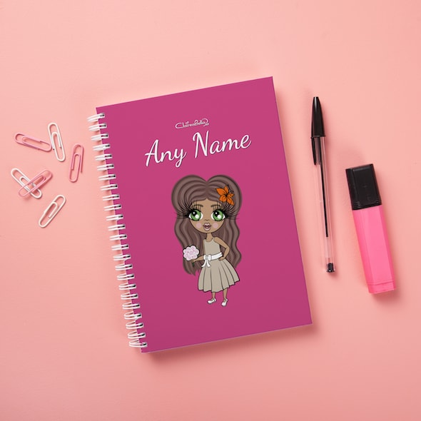 ClaireaBella Girls Hardback Notebook - Hot Pink - Image 1