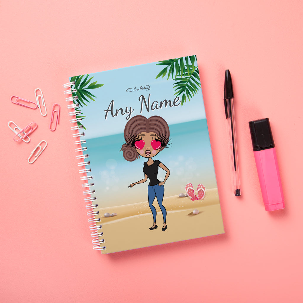 ClaireaBella Hardback Notebook - Beach Print - Image 1