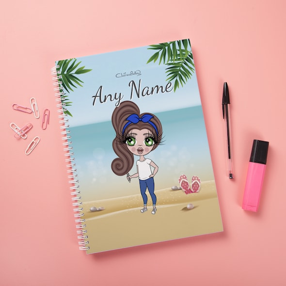 ClaireaBella Girls Hardback Notebook - Beach Print - Image 3