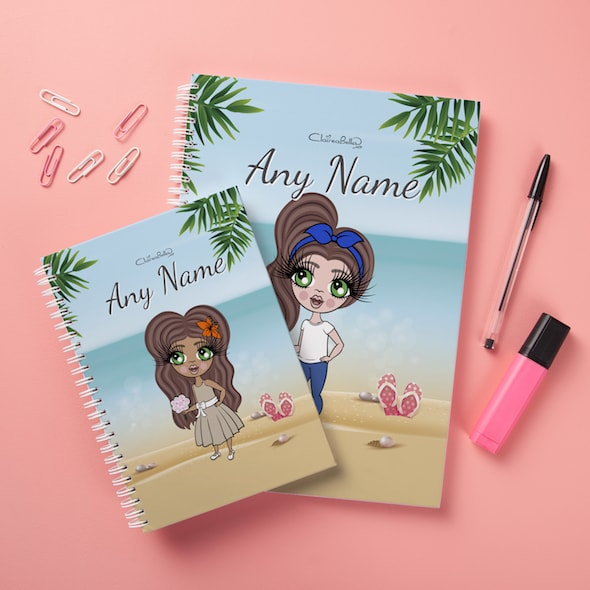 ClaireaBella Girls Hardback Notebook - Beach Print - Image 2