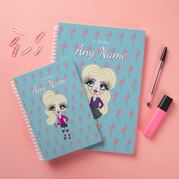 ClaireaBella Girls Hardback Notebook - Flamingo Print - Image 3