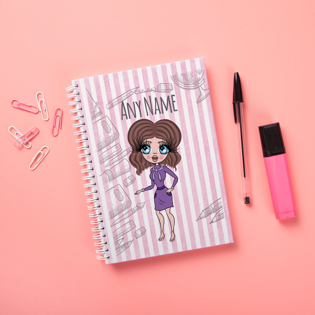 ClaireaBella Hardback Notebook - Teacher Stripes - Image 1