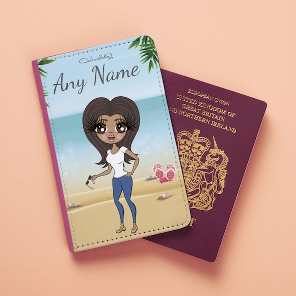 ClaireaBella Beach Print Passport Cover - Image 1