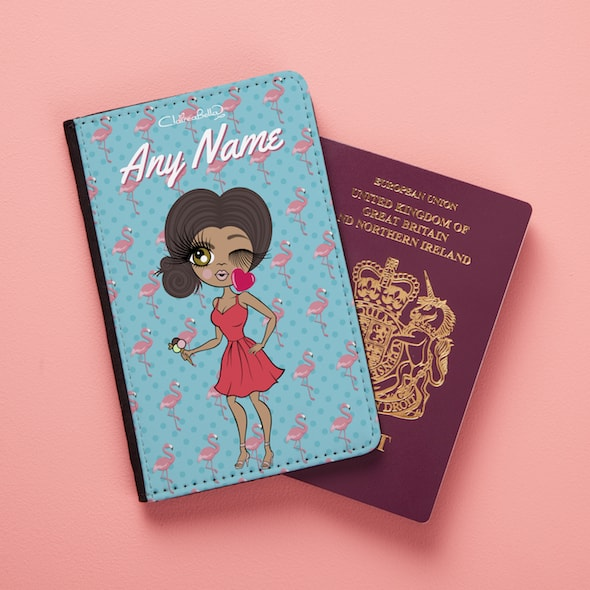 ClaireaBella Flamingo Print Passport Cover - Image 1