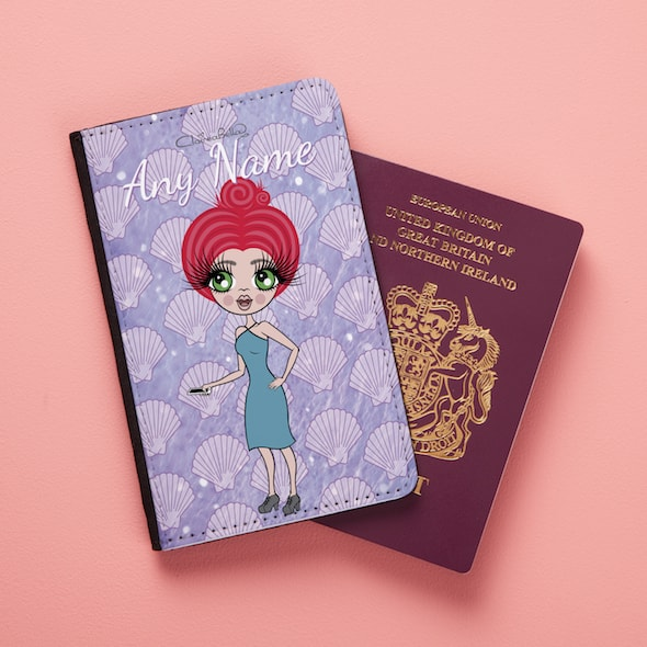 ClaireaBella Sea Shells Passport Cover - Image 1