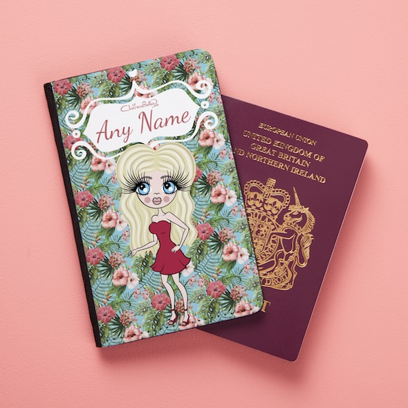 ClaireaBella Hula Print Passport Cover - Image 1