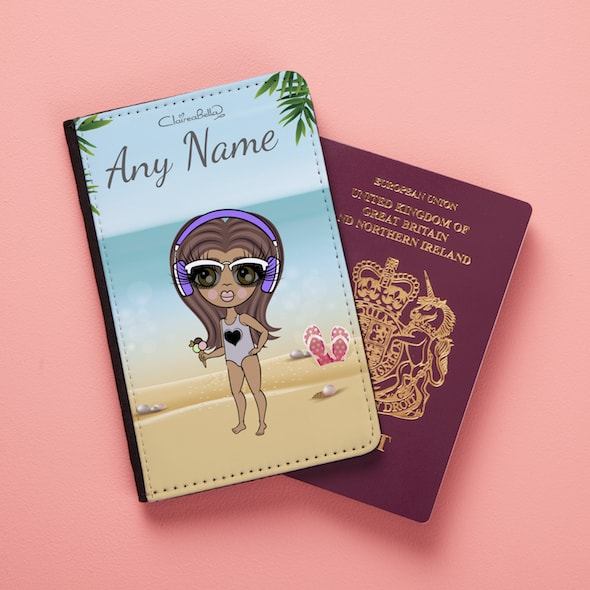 ClaireaBella Girls Beach Print Passport Cover - Image 1