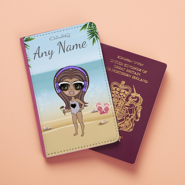 ClaireaBella Girls Beach Print Passport Cover - Image 3