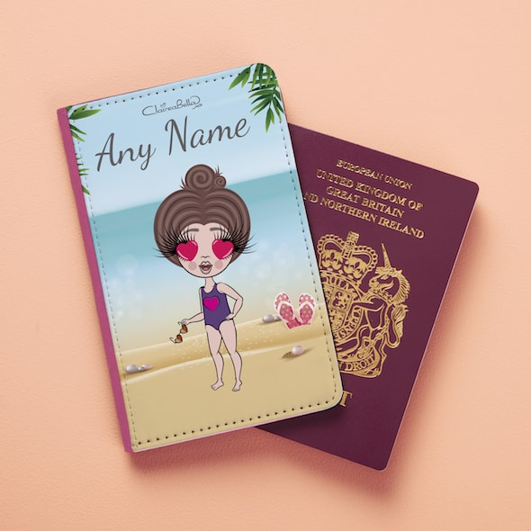 ClaireaBella Girls Beach Print Passport Cover - Image 2