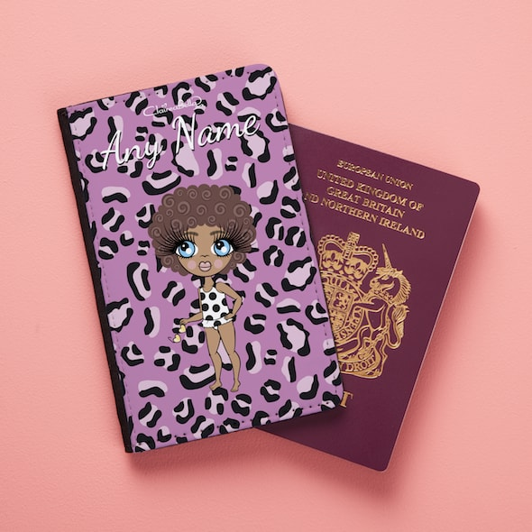 ClaireaBella Girls Lilac Leopard Passport Cover - Image 3