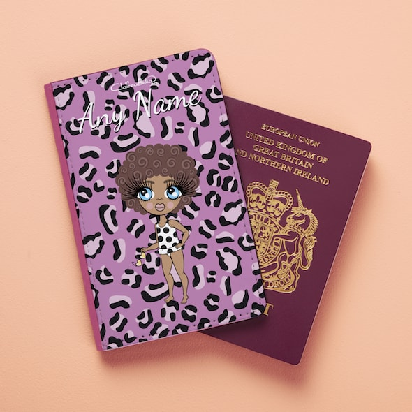 ClaireaBella Girls Lilac Leopard Passport Cover - Image 2
