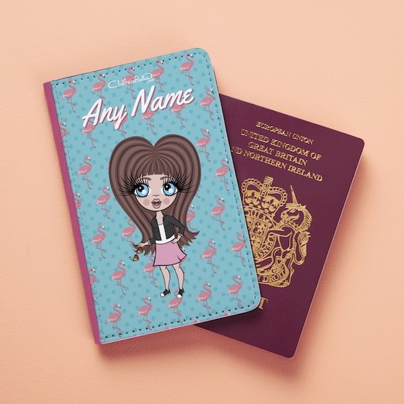 ClaireaBella Girls Flamingo Print Passport Cover - Image 2