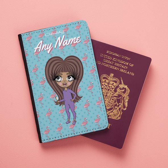 ClaireaBella Girls Flamingo Print Passport Cover - Image 4