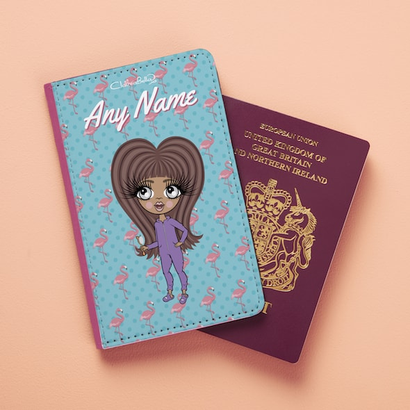 ClaireaBella Girls Flamingo Print Passport Cover - Image 3